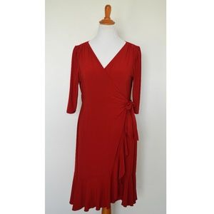 Kiyonna Whimsy Wrap Dress RED